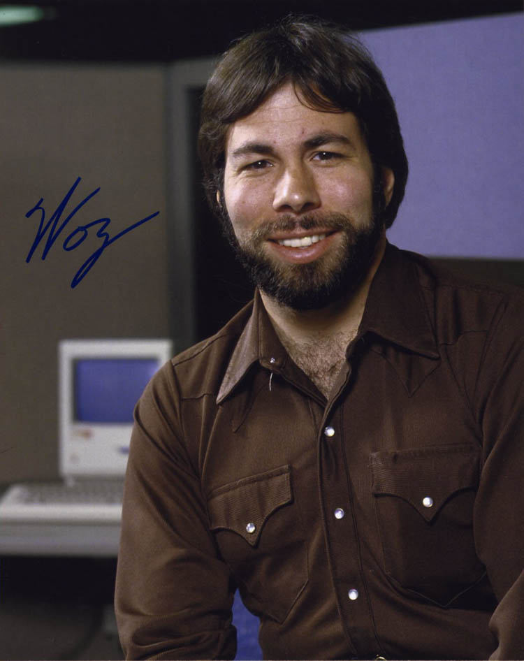 Steve Woz Wozniak SIGNED 8x10 PHOTO Co-Founder APPLE II COMPUTER AUTOGRAPHED