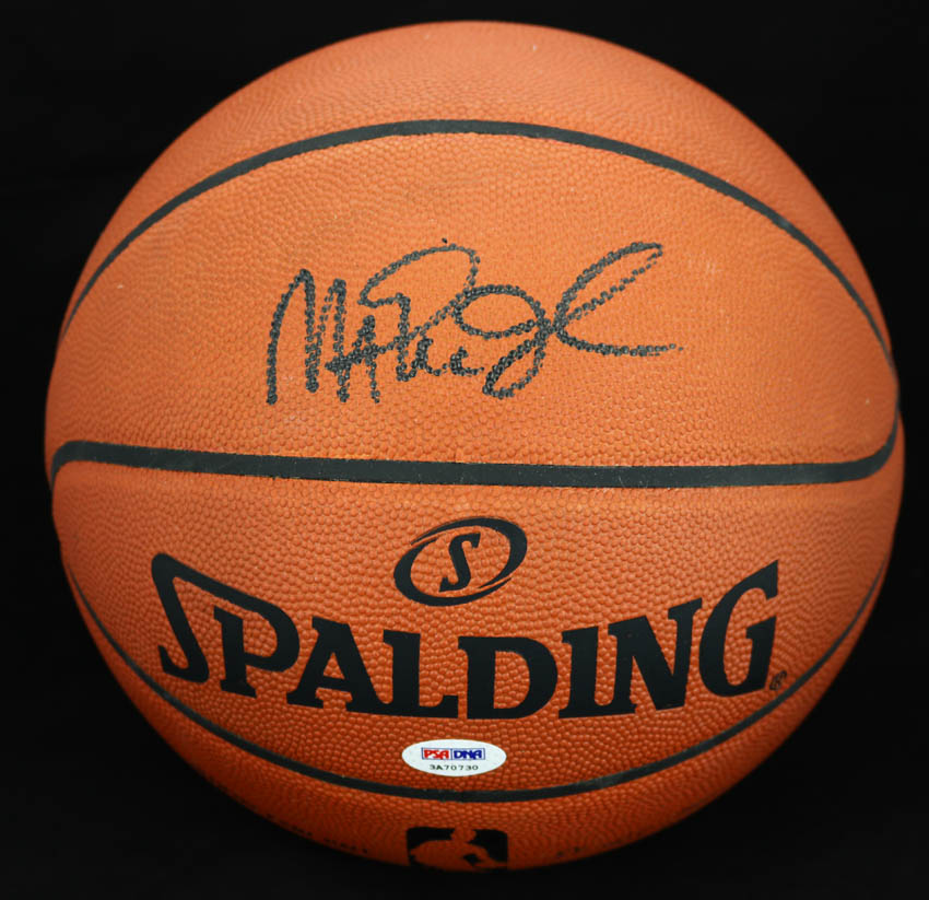 official photos 7a3a8 260d5 Details about Magic Johnson SIGNED Spalding Official NBA Basketball Lakers  PSA/DNA AUTOGRAPHED