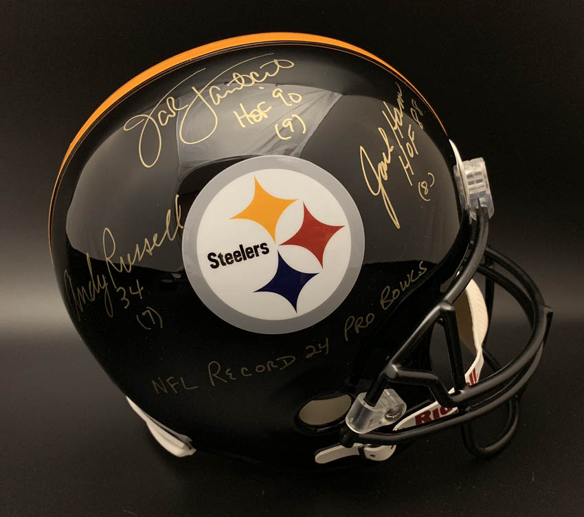526296b07 Football-NFL TJ Watt Signed Pittsburgh Steelers Full Size Speed Replica  Helmet JSA ITP Helmets