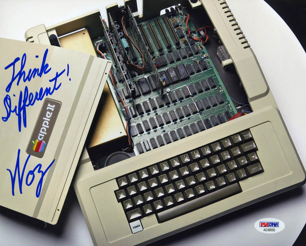 Details about Steve Woz Wozniak SIGNED 8x10 Photo Think DIfferent Apple II  PSA/DNA AUTOGRAPHED
