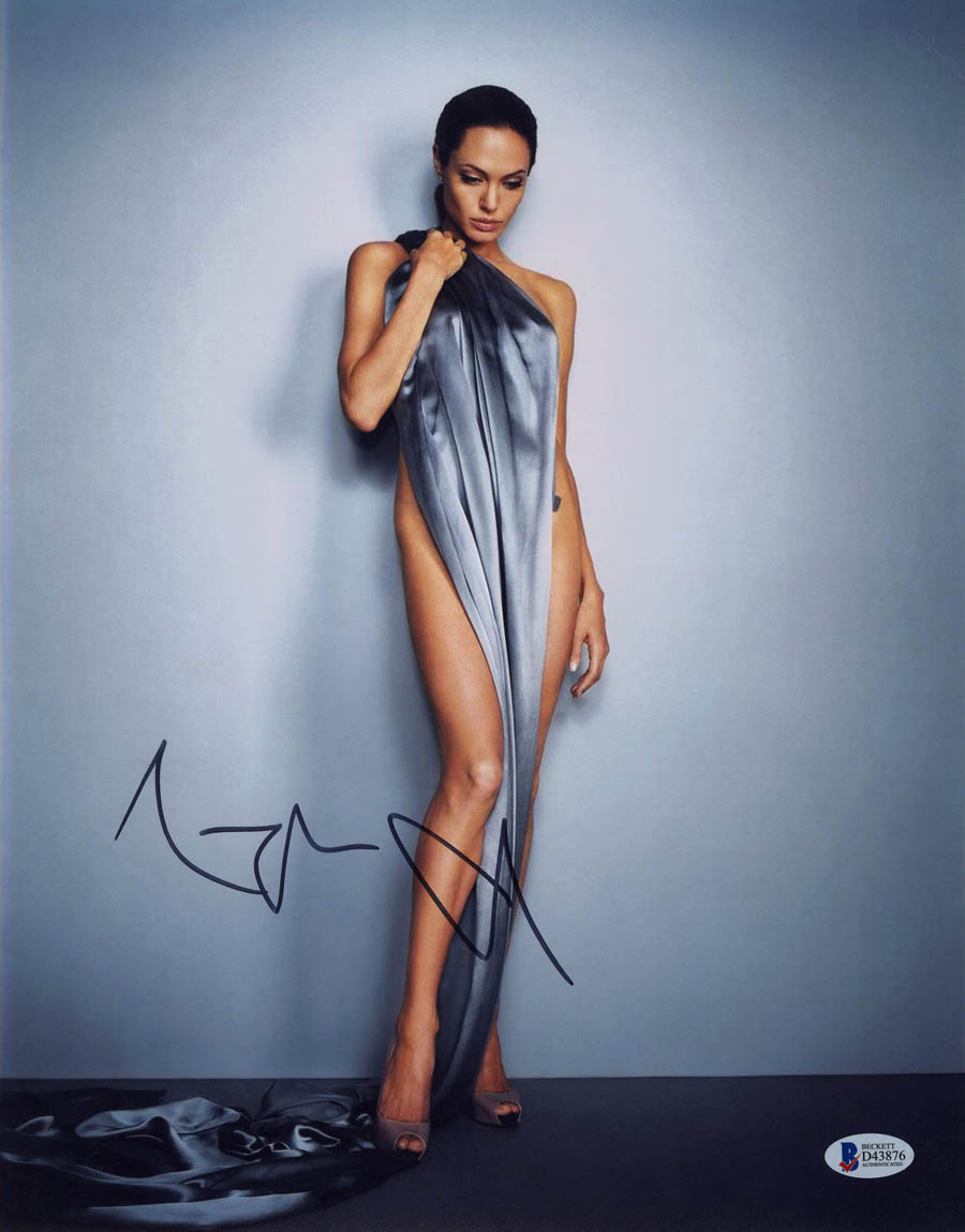 Angelina Jolie Photos Hot details about angelina jolie signed 11x14 photo maleficent salt hot *sexy*  beckett autographed