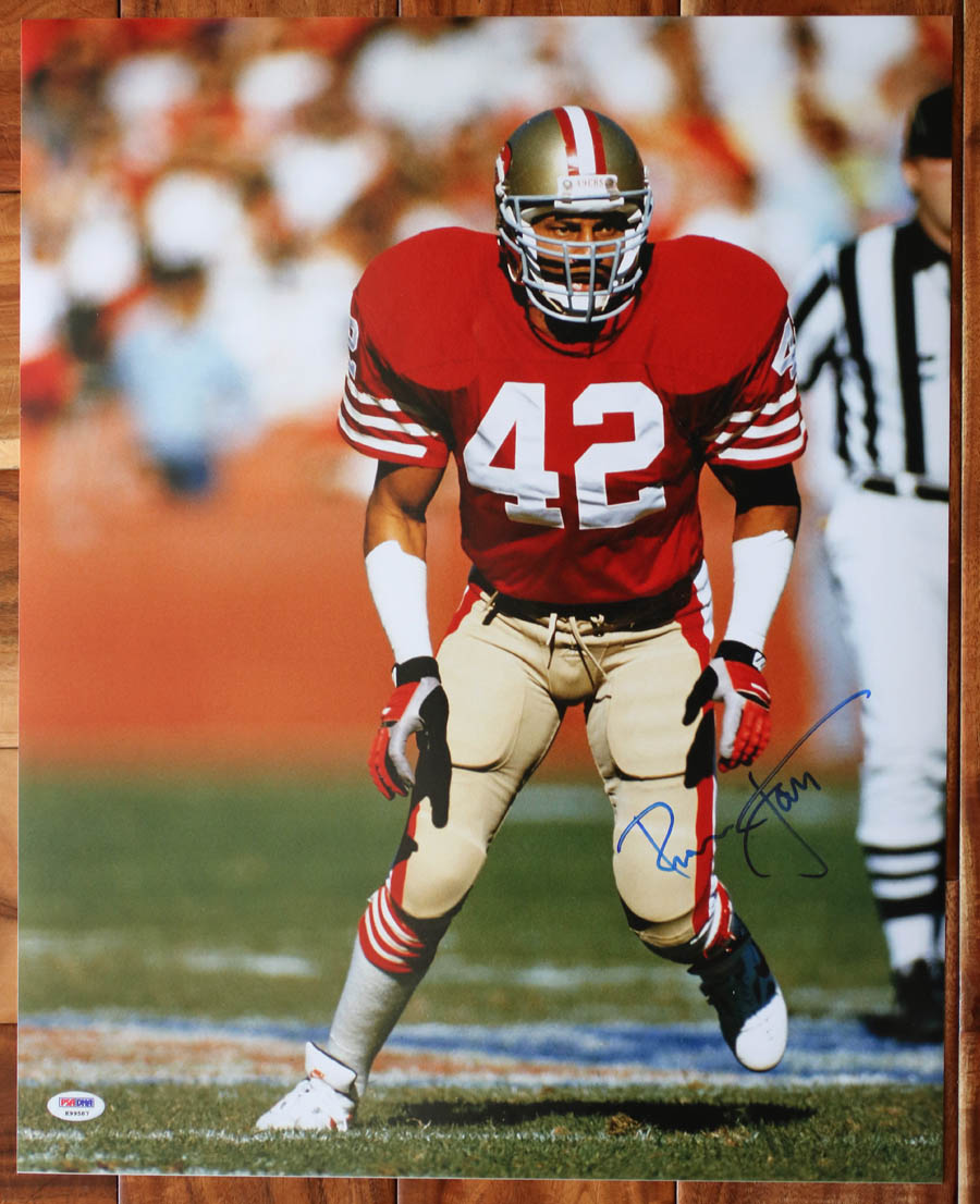 cheaper 5af2f f92db Details about Ronnie Lott SIGNED 16x20 Photo San Francisco 49ers HOF  PSA/DNA AUTOGRAPHED RARE