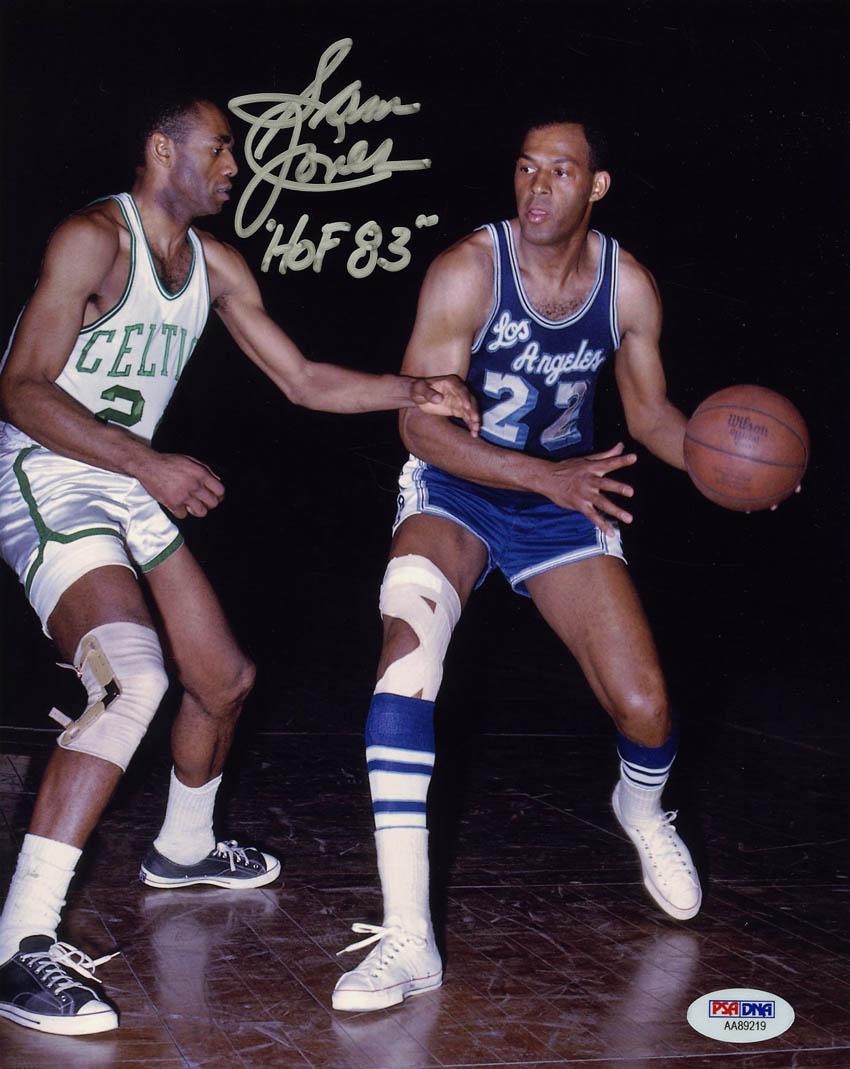 outlet store b65d7 b64df Details about Sam Jones SIGNED 8x10 Photo + HOF 83 Boston Celtics PSA/DNA  AUTOGRAPHED