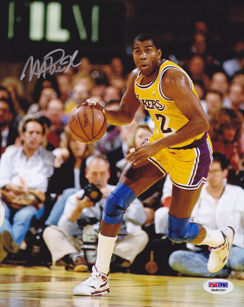 new style 5a088 1a9b5 Details about Magic Johnson SIGNED 8x10 Photo Los Angeles Lakers ITP  PSA/DNA AUTOGRAPHED HOF